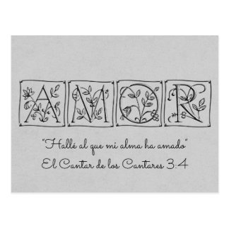 I Found the One my Soul Loves~Scripture~Spanish Postcard