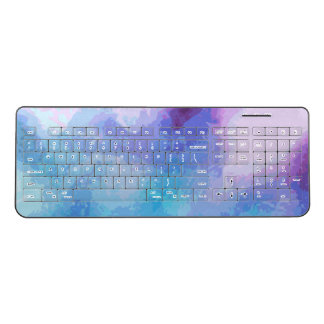'I Found You' Colorful Abstract Print Wireless Keyboard