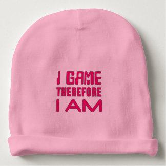 I Game Therefore I AM Gamer Girl Baby Beanie