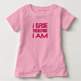 I Game Therefore I AM Gamer Girl Baby Romper