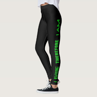 I Game Therefore I AM Leggings