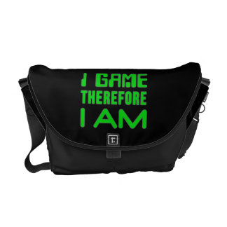 I Game Therefore I AM Messenger Bags