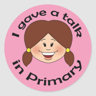 I Gave a Talk Round Sticker