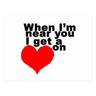 I Get a Heart On Funny Valentine Postcards