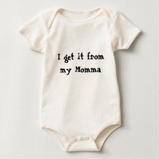 I get it from my Momma! Baby Bodysuit