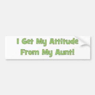 I Get My Attitude From My Aunt Bumper Sticker