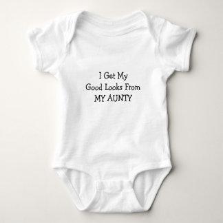 I Get My Good Looks From My Aunty Baby Bodysuit