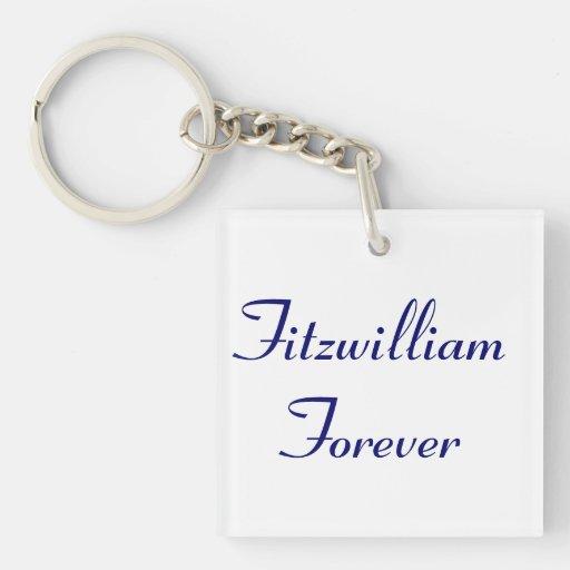 I Get to Call Mr. Darcy Fitzwilliam Austen Quote Square Acrylic Key Chain