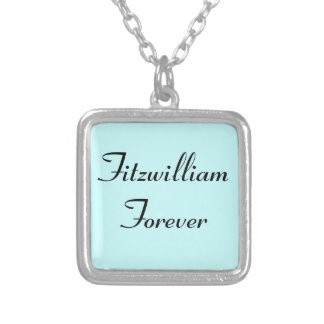 I Get to Call Mr. Darcy Fitzwilliam Austen Quote Silver Plated Necklace