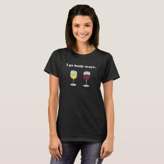 I Go Both Ways (Red Wine, White Wine) Shirt