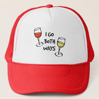 I Go Both Ways Wine Glasses Trucker Hat