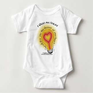 I God an Idea Lightbulb Baby Bodysuit