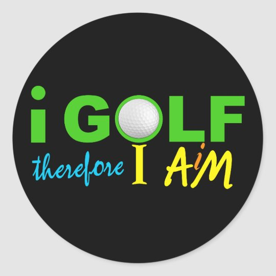 I GOLF stickers