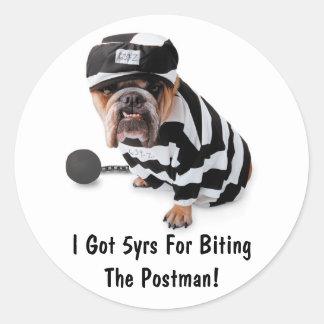 I Got 5yrs For Biting The Postman!- Sticker