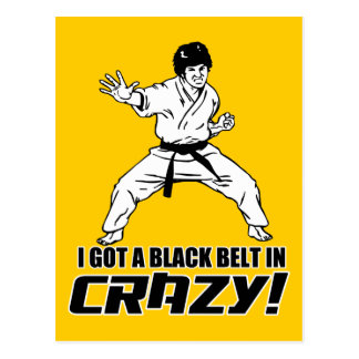I Got A Black Belt in Crazy Postcard