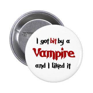 I got bit by a Vampire 2 Inch Round Button