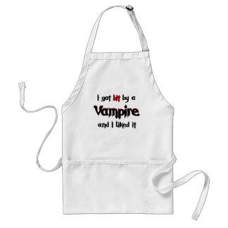 I got bit by a Vampire Adult Apron