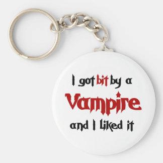 I got bit by a Vampire Basic Round Button Keychain