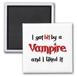 I got bit by a Vampire Refrigerator Magnet