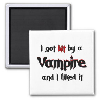 I got bit by a Vampire Square Magnet