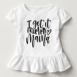 """""""I got it from my mama"""" white ruffle Tshirt"""