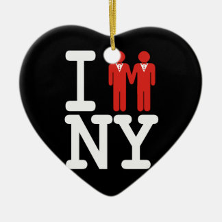 I GOT MARRIED IN NY MEN -.png Ceramic Ornament