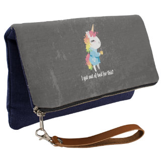 I got out of bed for this? Snarkles the Unicorn Clutch