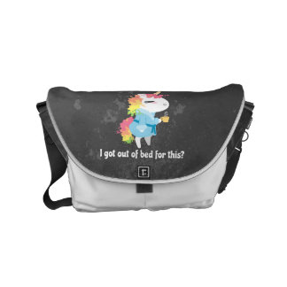I got out of bed for this? Snarkles the Unicorn Commuter Bags