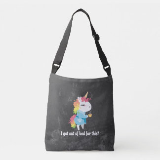I got out of bed for this? Snarkles the Unicorn Crossbody Bag