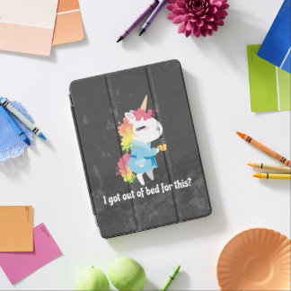 I got out of bed for this? Snarkles the Unicorn iPad Pro Cover