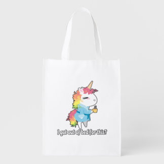I got out of bed for this? Snarkles the Unicorn Reusable Grocery Bag