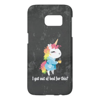 I got out of bed for this? Snarkles the Unicorn Samsung Galaxy S7 Case
