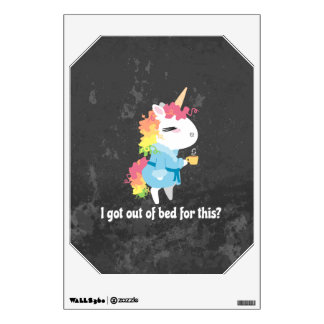 I got out of bed for this? Snarkles the Unicorn Wall Sticker
