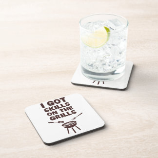 I Got Skills on the Grills Cookout BBQ Coaster