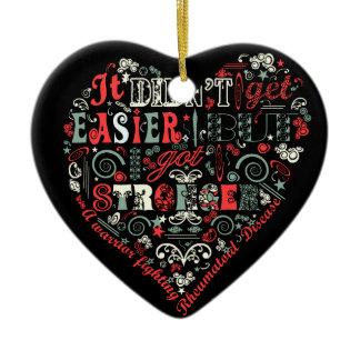 I got stronger heart ceramic heart ornament