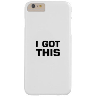 I got This  for Cancer, Disease Awareness Barely There iPhone 6 Plus Case