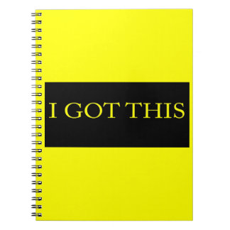 I GOT THIS funny motivational typography Spiral Note Books