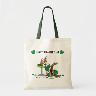 """I Got Trashed At"" Tote Bags"