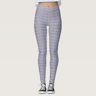 I gotta run blue on grey running leggings