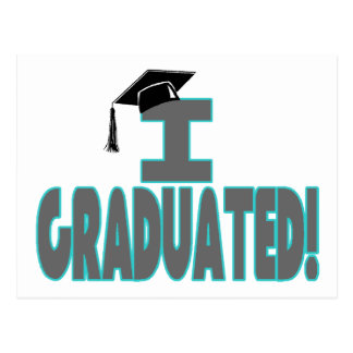 I Graduated With Black Cap Postcard