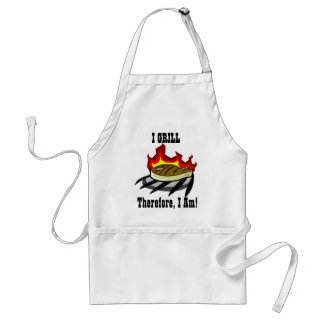 I Grill...Therefore, I Am! Standard Apron