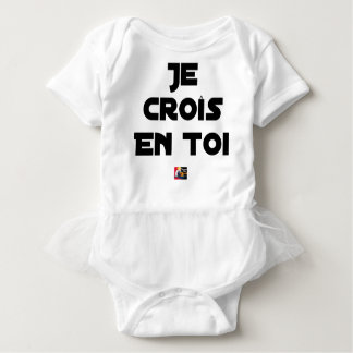 I grow in You - Word games - François Ville Baby Bodysuit
