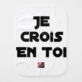 I grow in You - Word games - François Ville Burp Cloth