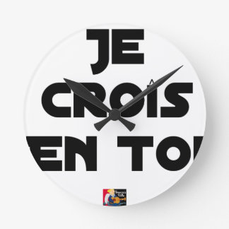 I grow in You - Word games - François Ville Round Clock