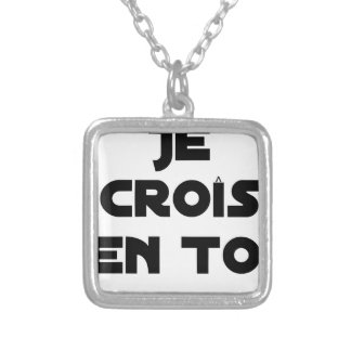 I grow in You - Word games - François Ville Silver Plated Necklace