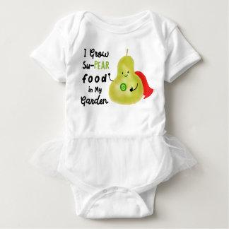 I Grow Su- Pear Food in My Garden - Baby Tutu Baby Bodysuit