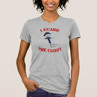 """I Guard The Coast"" Women's T-Shirt (Red Text)"