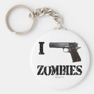 I Gun Zombies 2 Basic Round Button Keychain