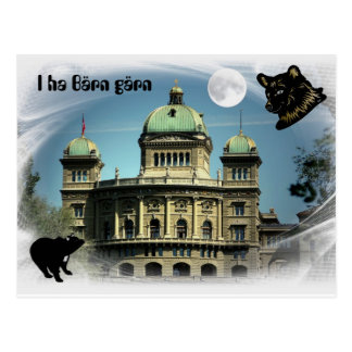 I ha of Bärn gärn postcard with German Parliament