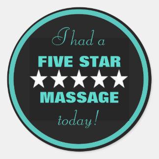 I had a massage today! round sticker